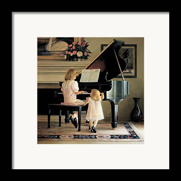 Piano Framed Print featuring the painting Dress Rehearsal by Greg Olsen