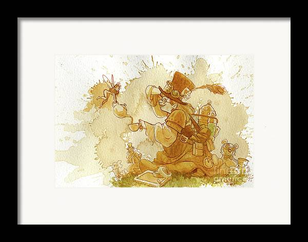 Steampunk Framed Print featuring the painting Dress Up by Brian Kesinger