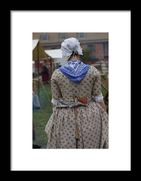 Revolutionary War Framed Print featuring the photograph Dressed For America by Carrie Goeringer
