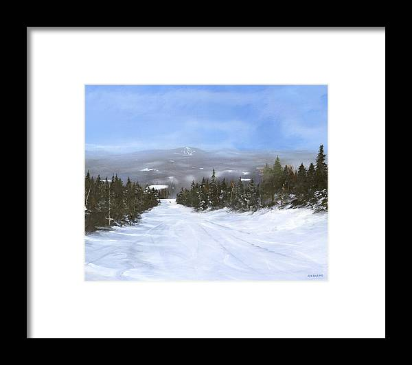 Ski Framed Print featuring the painting Drifter by Ken Ahlering