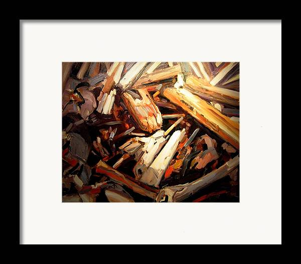 Beach Paintings Framed Print featuring the painting Driftwood by Brian Simons