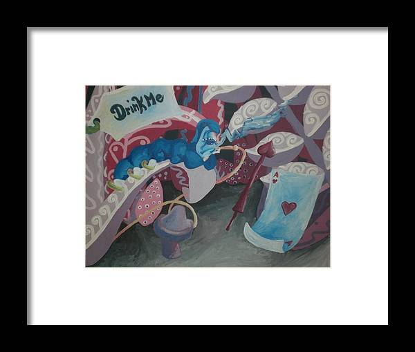 Alice Framed Print featuring the painting Drink Me by Lisa Leeman