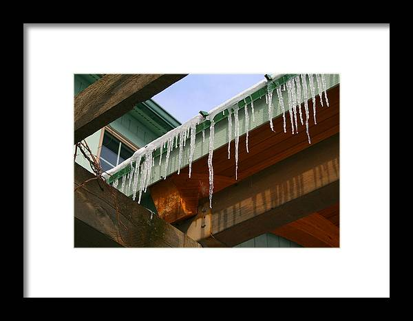 Ice Framed Print featuring the photograph Dripping Ice by Deborah Napelitano