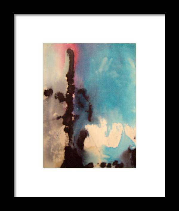 Dye Framed Print featuring the painting Drippings 1 by Samantha Gilbert