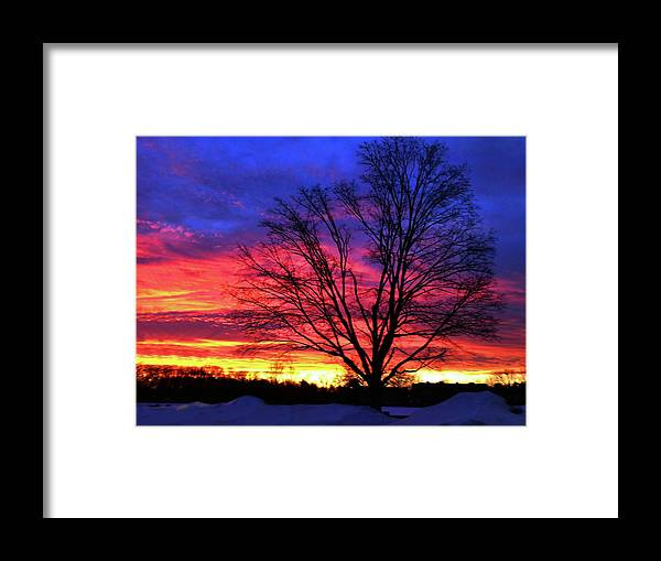 Sunrise Framed Print featuring the photograph Driveby Shooting No. 8 - Valentine's Sunrise by Christine Segalas