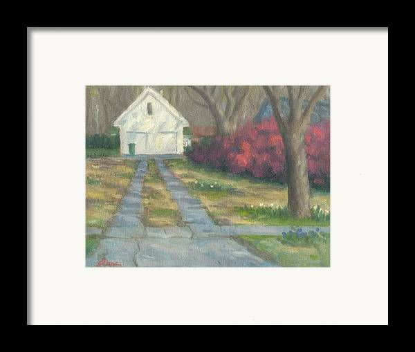 Landscape Framed Print featuring the painting Driveway by Michael Gillespie