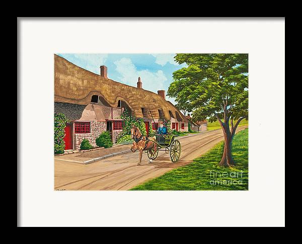 English Painting Framed Print featuring the painting Driving A Jaunting Cart by Charlotte Blanchard