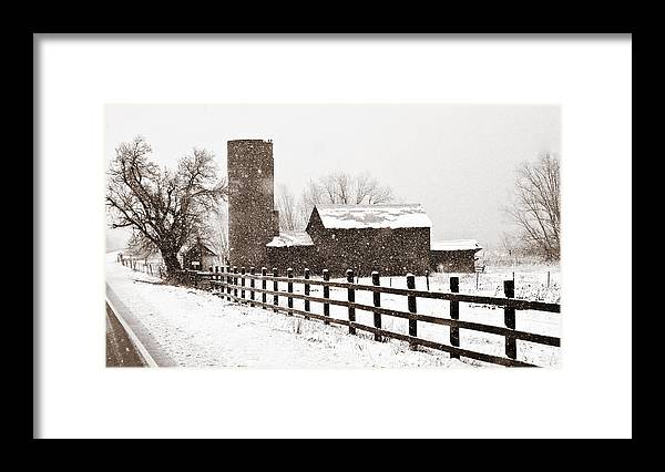 Americana Framed Print featuring the photograph Driving Down Cherryvale by Marilyn Hunt