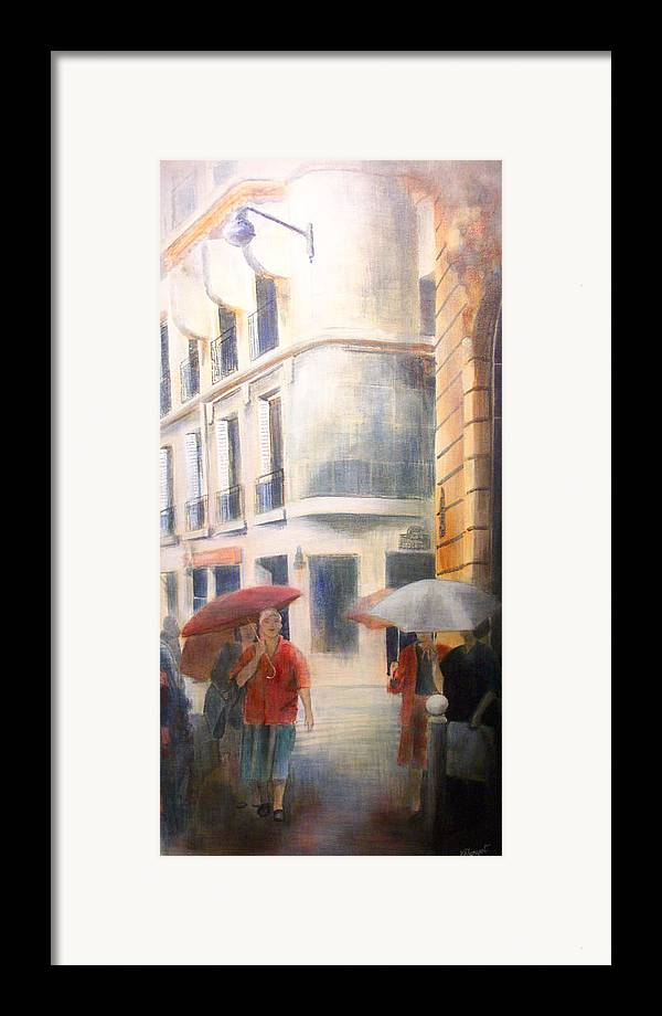 Drizzle Framed Print featuring the painting Drizzle by Victoria Heryet