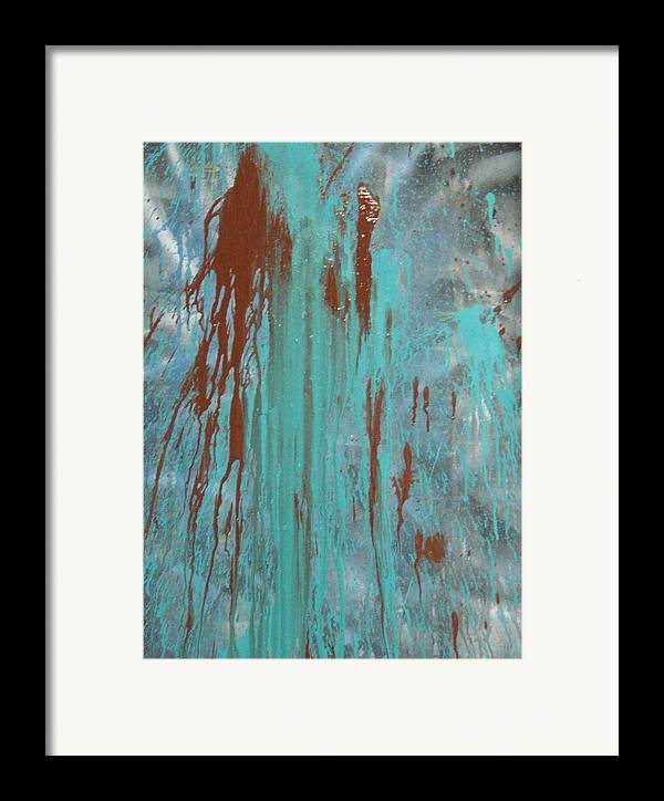 Emotion Framed Print featuring the painting Drooling by Leigh Odom