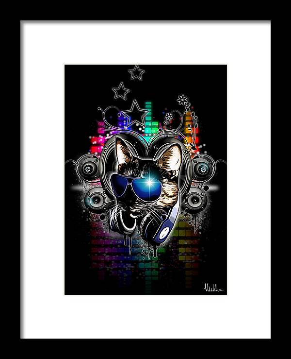 Cool Framed Print featuring the digital art Drop The Bass by Nicklas Gustafsson