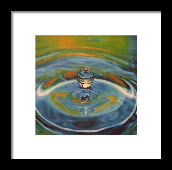 Nature Framed Print featuring the painting Droplet by Srilata Ranganathan