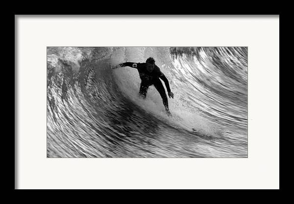 Dropping In At San Clemente Pier Framed Print featuring the photograph Dropping In At San Clemente Pier by Brad Scott