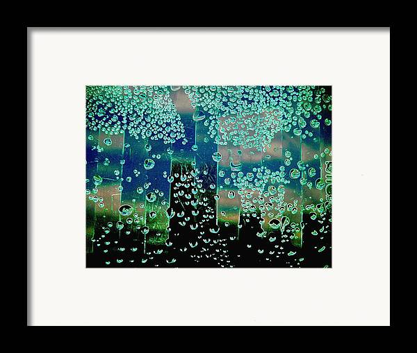Abstract Framed Print featuring the photograph Drops Of Rain by Shirley Sirois