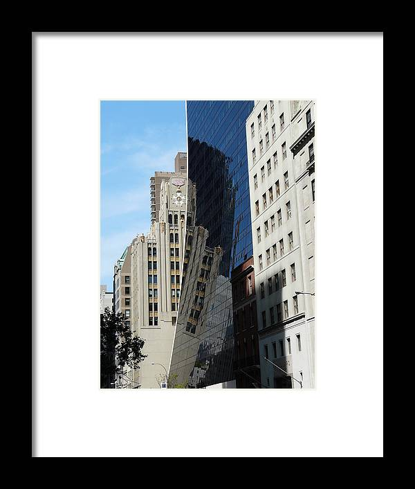 New York Framed Print featuring the photograph Drowning By Reflection by Valerie Ornstein