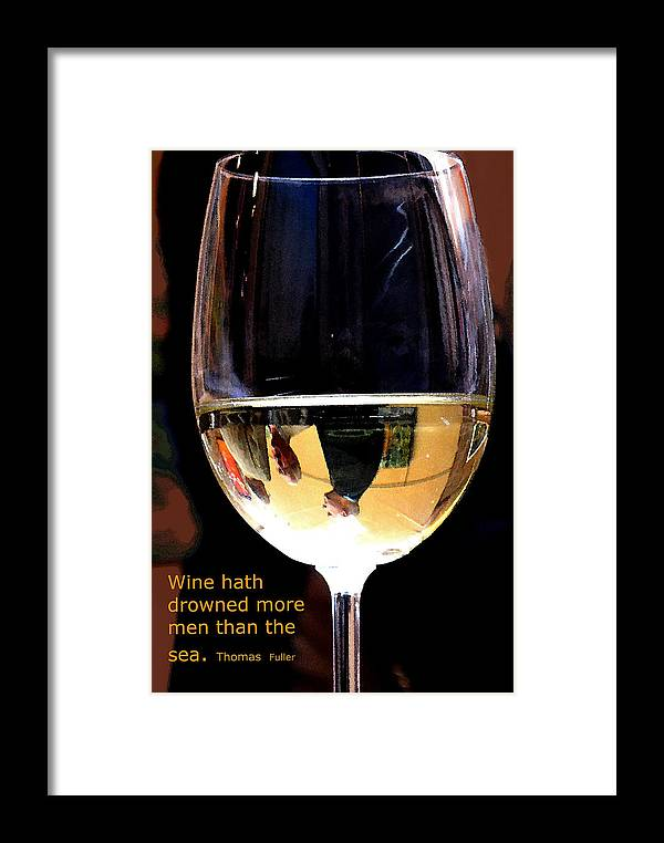 Wine Framed Print featuring the photograph Drowning by Ian MacDonald