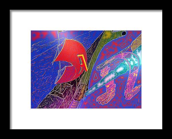 Drugs Framed Print featuring the digital art Drugs by Helmut Rottler