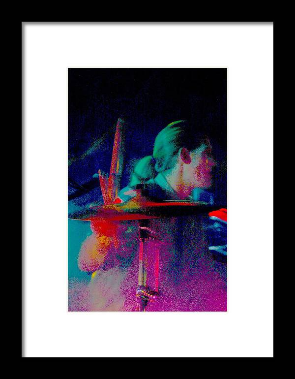 Music Framed Print featuring the photograph Drummer by Tommy Simpson