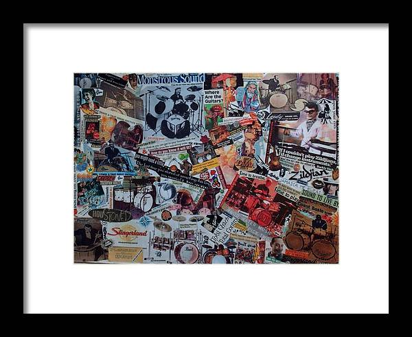 Music Framed Print featuring the mixed media Drummerboys by Nancy Graham