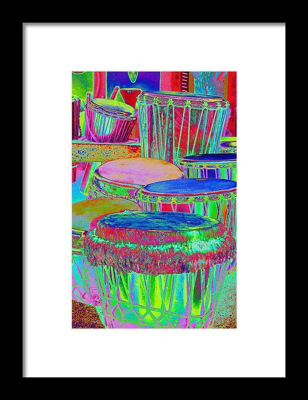 Psychedelic Framed Print featuring the photograph Drums of Change by Richard Henne