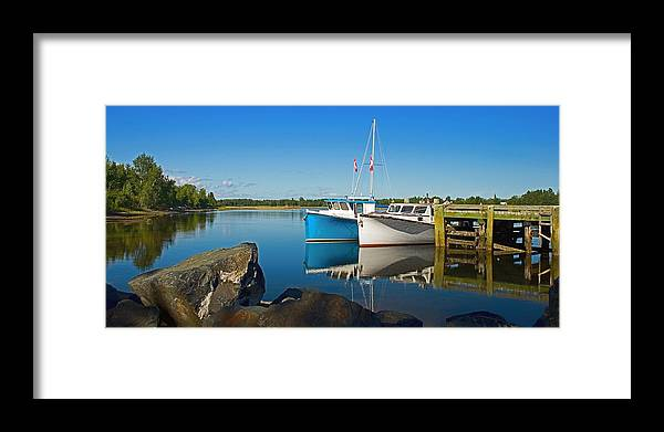 Landscape Framed Print featuring the photograph Du Vin Reflection by Levin Rodriguez