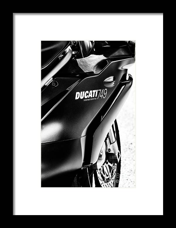 Ducati 749 Testastretta Framed Print featuring the photograph Ducati 749 by Tim Gainey