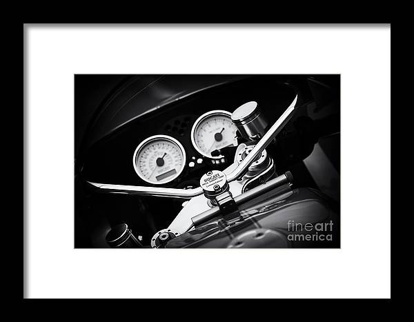 Ducati Paulsmart 1000 Le Framed Print featuring the photograph Ducati Ps1000le Detail by Tim Gainey