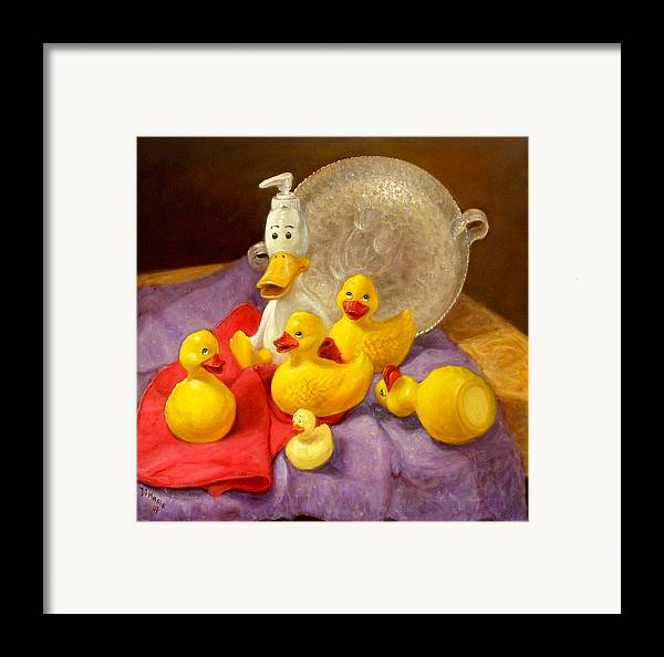 Realism Framed Print featuring the painting Duck Soap by Donelli DiMaria