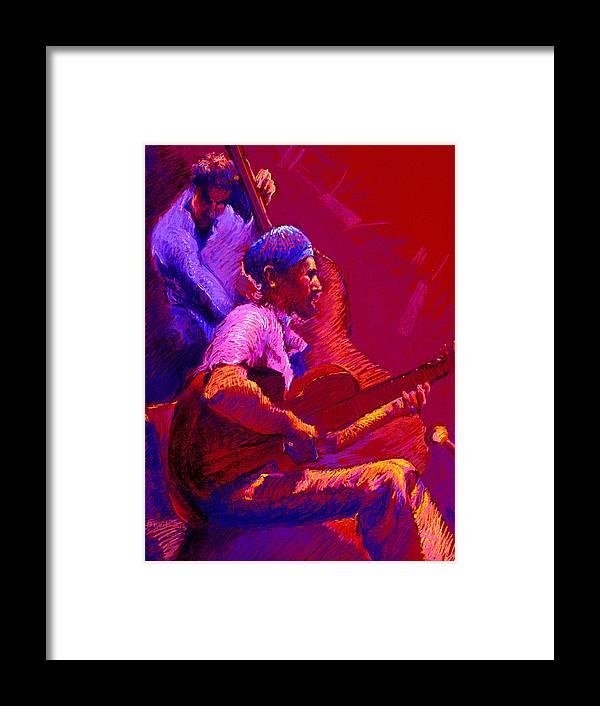 Music Framed Print featuring the painting Duet by Ellen Dreibelbis