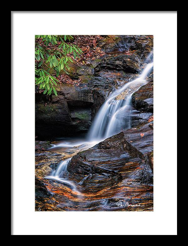 Waterfall Framed Print featuring the photograph Dukes Creek Falls 5295 by Dan Beauvais