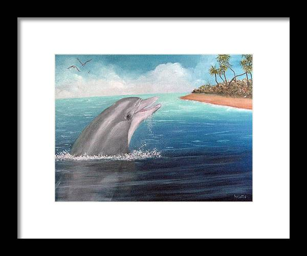 Dolphin Framed Print featuring the painting Dulce by Amelie Gates