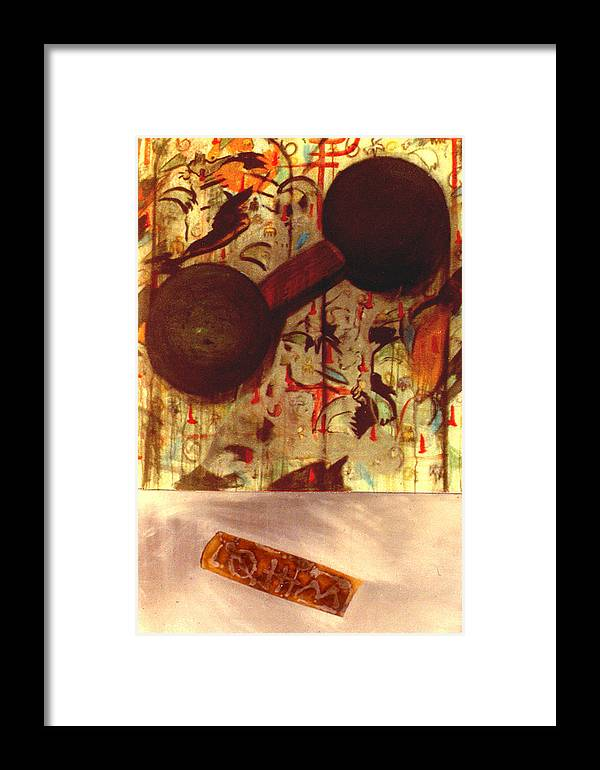 Still Pop Framed Print featuring the print Dumbbell Eyes by Paul Knotter