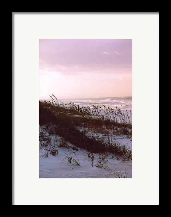 Ocean Framed Print featuring the photograph Dune Sunrise by Deborah Gallaway