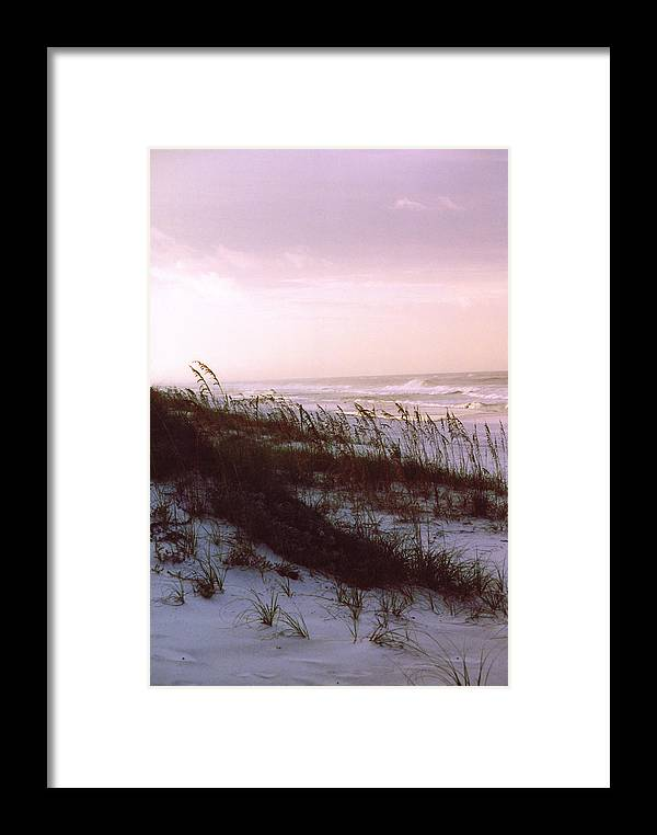 Ocean Framed Print featuring the photograph Dune Sunrise by Deborah Gallaway