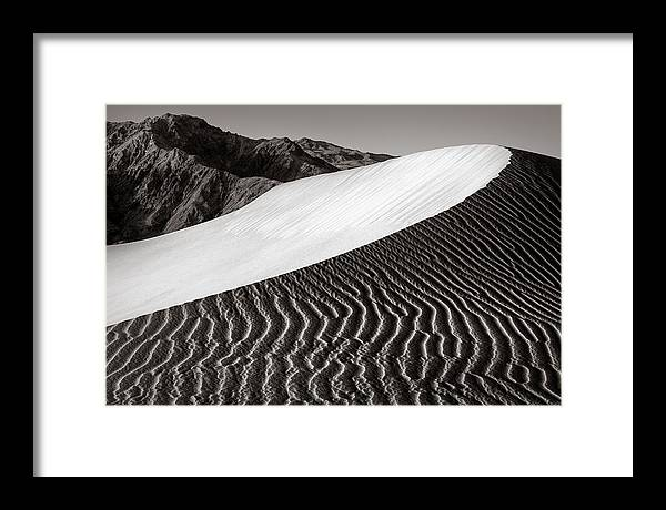 Death Valley Framed Print featuring the photograph Dune by Thorsten Scheuermann