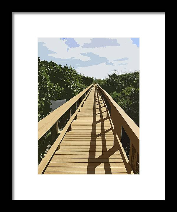 Walk Framed Print featuring the painting Dune Walk by Allan Hughes