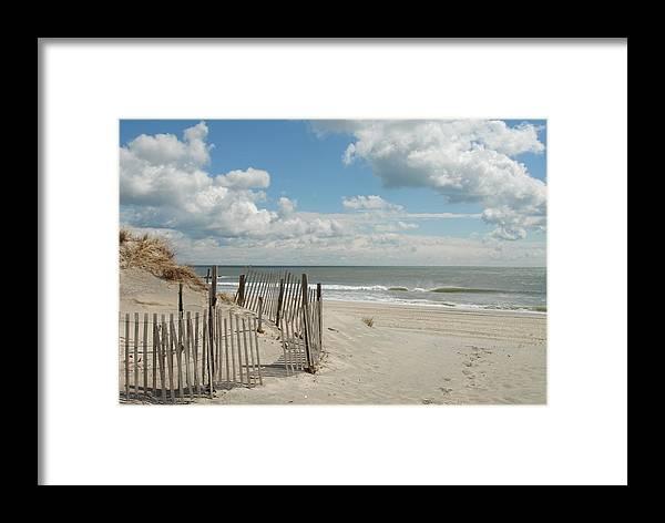 Ocean Dunes Photos Framed Print featuring the photograph Dunes 4 by Joyce StJames