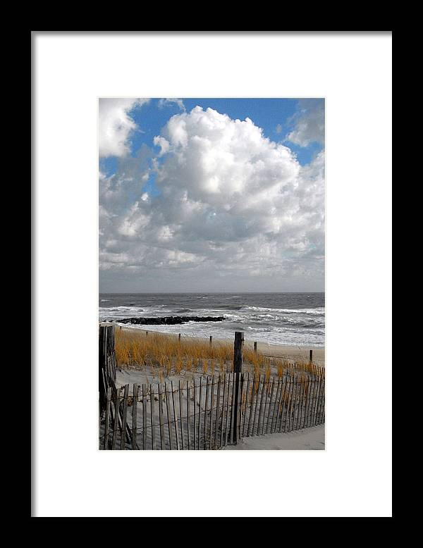 Ocean Dunes Photos Framed Print featuring the photograph Dunes 5 by Joyce StJames