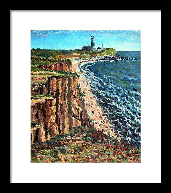 Dunes Framed Print featuring the painting Dunes at Montauk by Ralph Papa