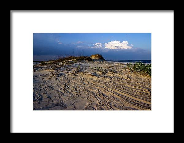 Landscape Photography Framed Print featuring the photograph Dunes At St. Simons Island by William Haas