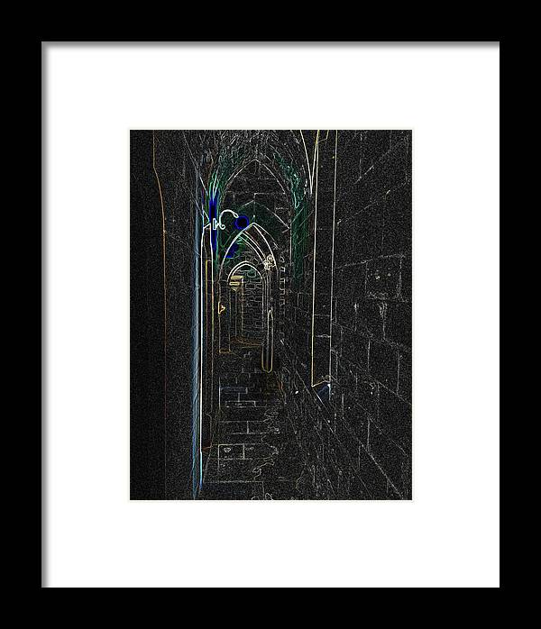 Photograph Framed Print featuring the photograph Dungeon Passage by Nicole Parks