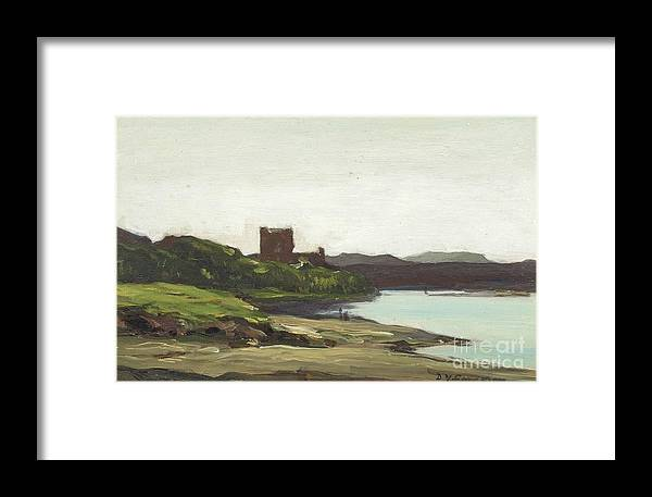 Sir David Young Cameron Framed Print featuring the painting Dunollie by MotionAge Designs