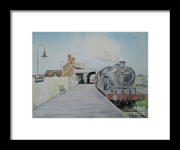 Dunstable Town Station Framed Print featuring the painting Dunstable Town Station by Martin Howard