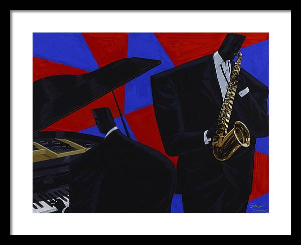 Music Framed Print featuring the painting Duotones by Darryl Daniels