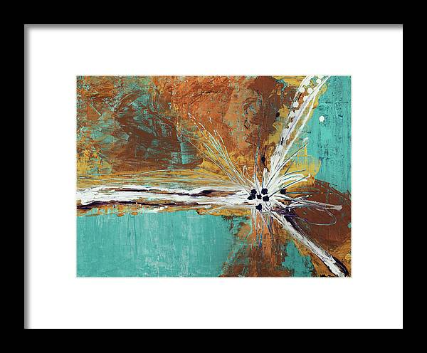 Abstract Framed Print featuring the painting Duplication by K Batson Art