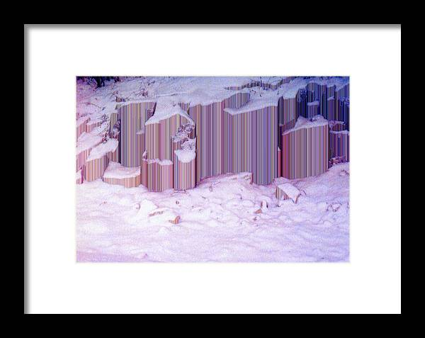 Abstract Framed Print featuring the photograph During The Snow Fall 33 by Lyle Crump