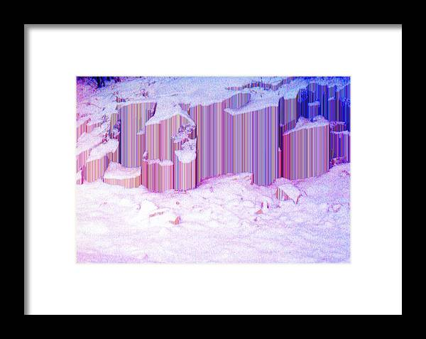 Abstract Framed Print featuring the photograph During The Snow Fall 35 by Lyle Crump