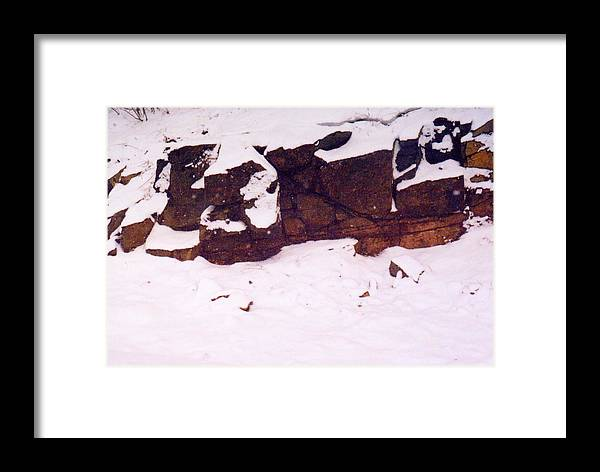 Abstract Framed Print featuring the photograph During The Snow Fall by Lyle Crump