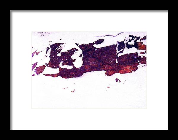 Abstract Framed Print featuring the photograph During The Snow Fall Pd 3 by Lyle Crump