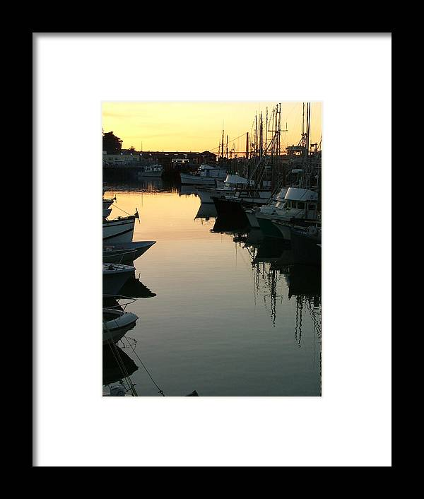 Waterfront Framed Print featuring the photograph Dusk - Northern California by Donna Thomas